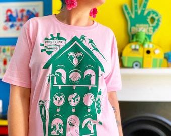 Bird House Motel Pink T-shirt