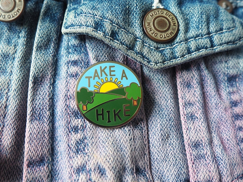 Take a Hike Enamel Pin Explore Pin Travel Pin Hike Enamel image 0