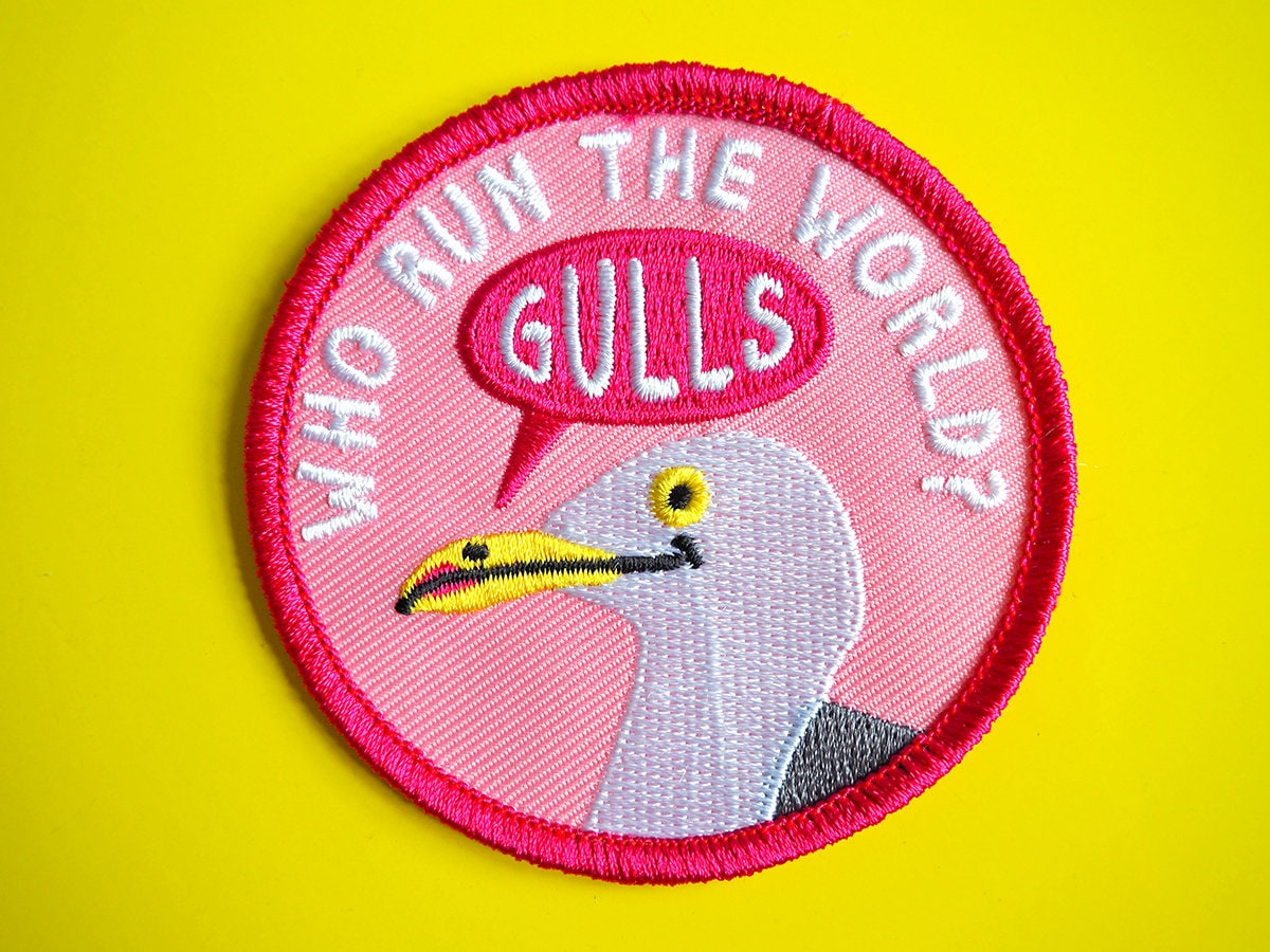 Funny Iron On Patch Gulls Patch Cute Seagull Patch