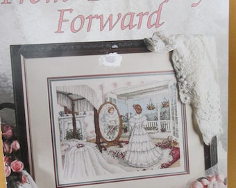 "Cross Stitch Pattern Booklet 1992 ""From This Day Forward""   Leisure Arts 2210 used fold out"