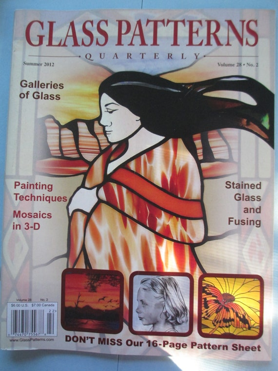 Glass Pattern Quarterly Magazine Stained Glass Patterns Etsy Gorgeous Glass Patterns Quarterly