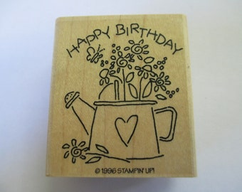 """Rubber Stamp """"Birthday stamp"""" stamp For cards and scrapbooking  slightly used good condition"""