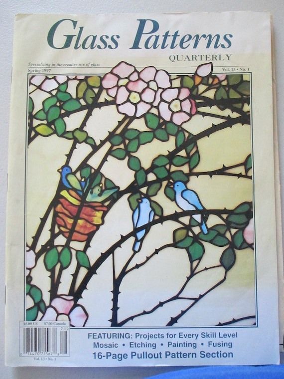 Stained Glass Patterns Glass Patterns Quarterly Stained Glass Etsy Amazing Glass Patterns Quarterly