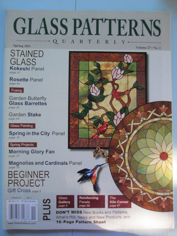 Glass Pattern Quarterly Magazine Stained Glass Patterns Etsy Enchanting Glass Patterns Quarterly