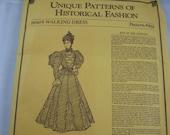 Vtg Pattern 1890s Dress 891 Old World Enterprises Historical Fashion Sizes 8-14 Sealed Uncut