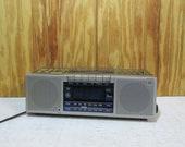 Vintage GE General Electric Model 7-4965A Digital Alarm Clock AM FM Radio- Tape Player- Stero