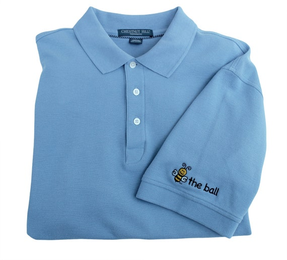 Mens Polo Embroidered Bee The Ball Left Sleeve Etsy