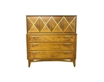 Mid Century Geometric Dresser