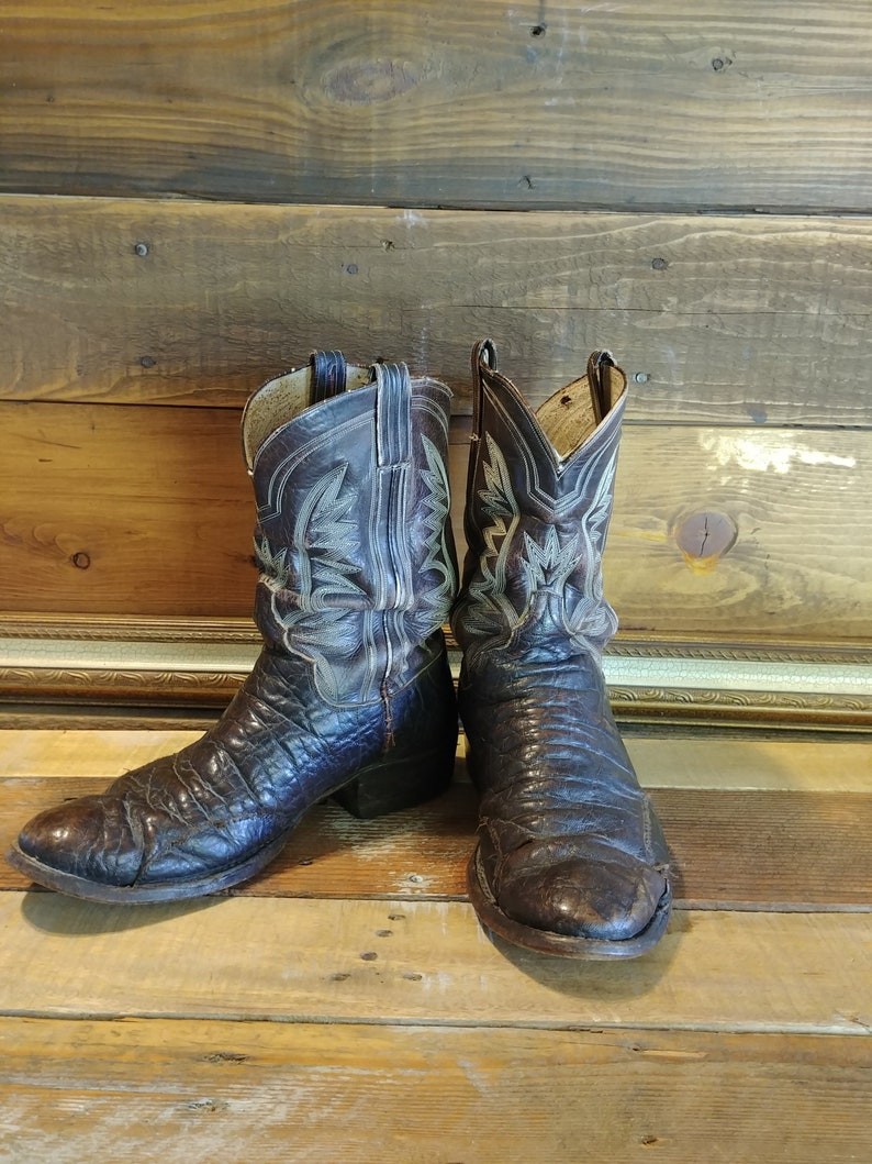 ccd37c859d6 Handmade Vintage Distressed M.L. Leddy of Ft Worth Texas Leather Short  Boots. Men's Size 9.5 to 10 US