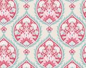 Bon Voyage Collection - Flowerleaf Red - Tilda Fabric - Tone Finanger - (100253) - Half Yard