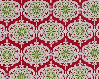 Anna Griffin Fabric - Christmas Kitsch Collection - Ornaments White (CF2907-1) - Half Yard