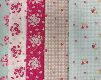 Lecien - La Conner - Fat Quarter Bundle - 5 Fat Quarters