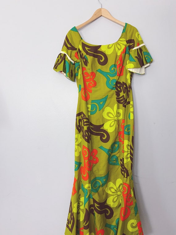 gorgeous vintage Kamehameha 60s Hawaiian cotton dr
