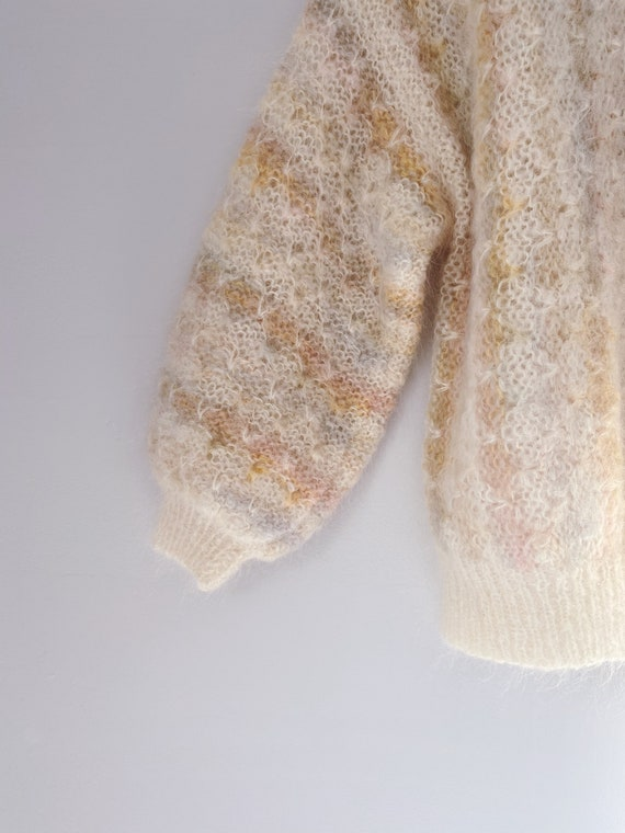 vintage mohair puff sleeve sweater