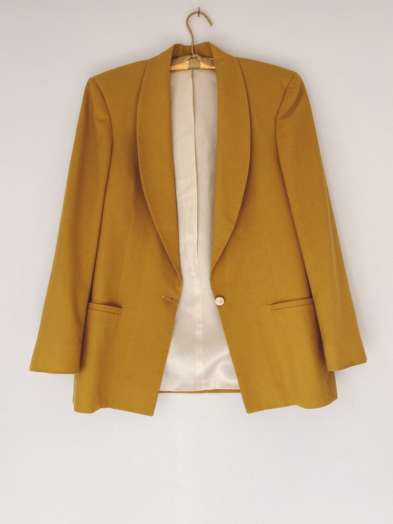 vintage chartreuse fitted blazer