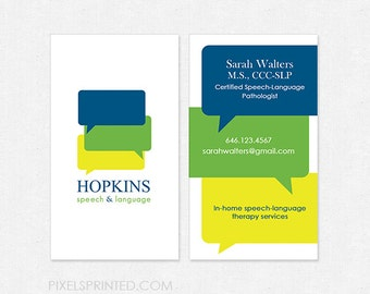 Slp business cards etsy slp deluxe business cards thick glossy or matte color both sides free ups ground colourmoves