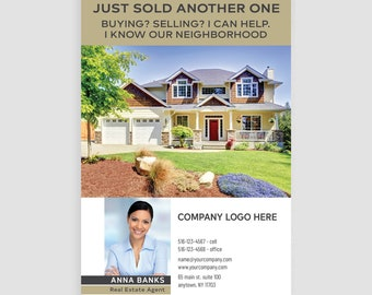 Century 21 real estate postcards thick FREE UPS ground shipping glossy or matte 4x6