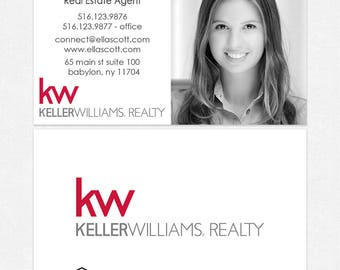 Kw business cards etsy keller williams real estate business cards thick color both sides free ups ground shipping colourmoves
