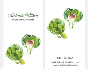 Healthy bus card etsy nutritionist dietitian business cards deluxe thick matte color both sides free ups ground shipping colourmoves