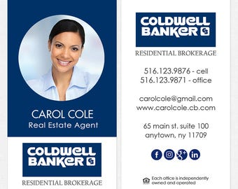 Coldwell Banker Real Estate Business Cards Thick Color Both Etsy