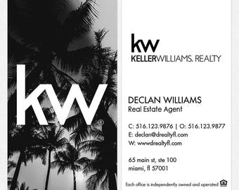 Beach real estate etsy no photo keller williams real estate deluxe business cards thick color both sides free ups ground shipping reheart Choice Image