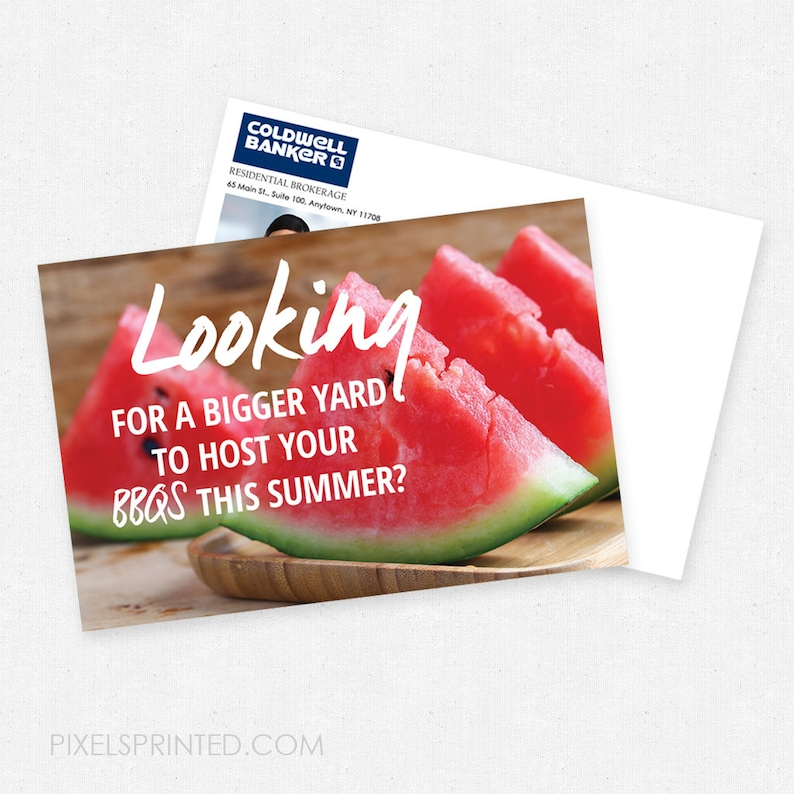 color both sides 4x6 Coldwell Banker summer postcards thick FREE UPS ground shipping