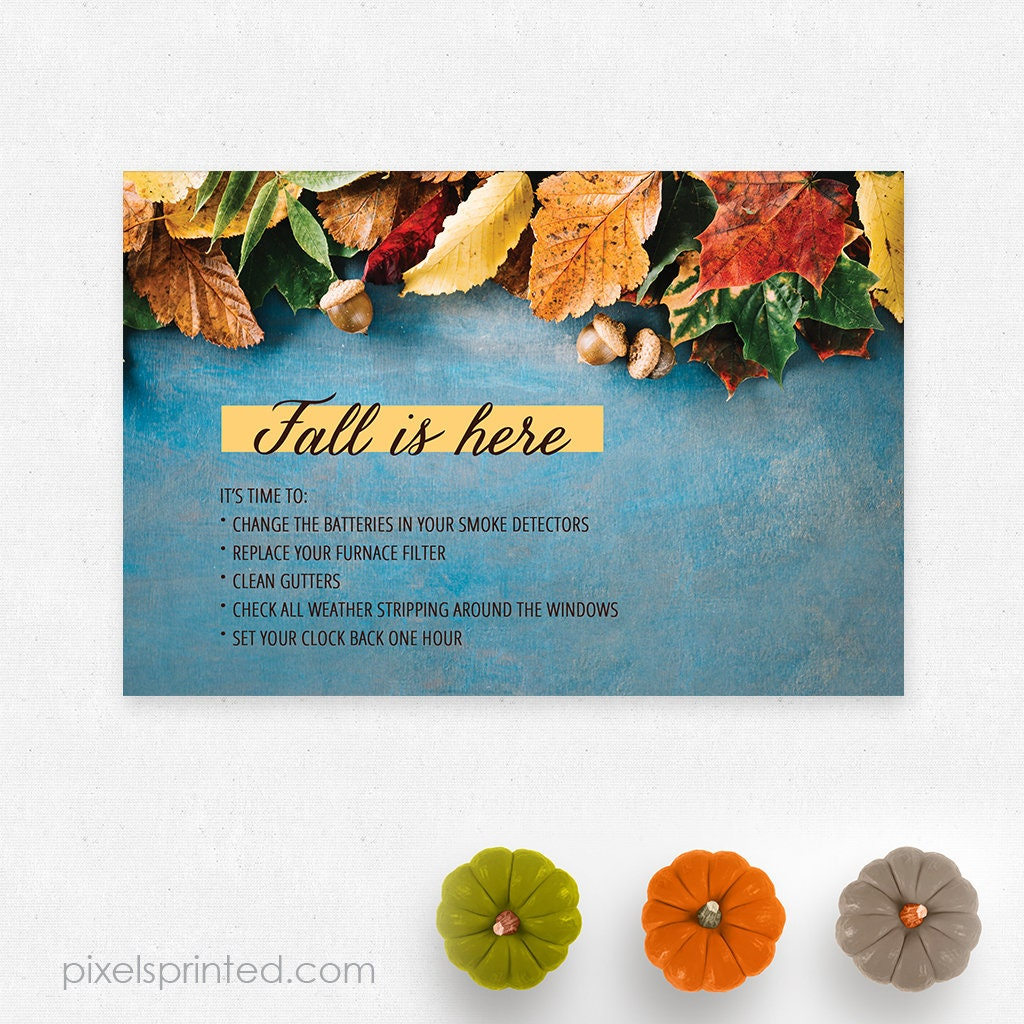 REMAX fall Thanksgiving postcards 4x6 full color both | Etsy