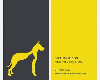 Dog walker or dog trainer business cards full color both dog walker dog trainer business cards full color both sides free ups ground colourmoves