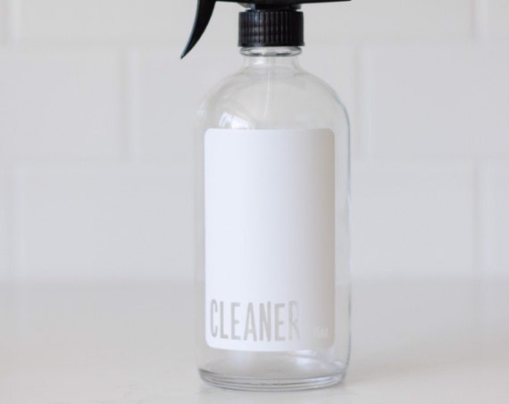 Clear Glass Modern Cleaner w/Sprayer