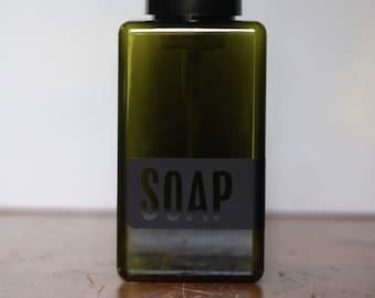 Green Plastic Foaming Hand Soap Dispenser