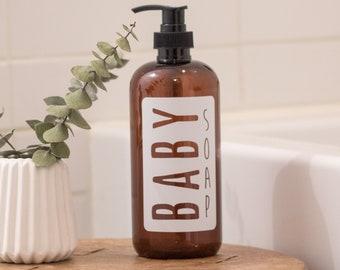Amber Plastic Baby Soap Dispenser