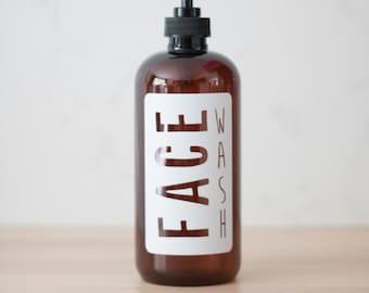Amber Plastic Face Wash Dispenser