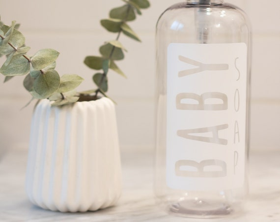 Clear Plastic Baby Soap Dispenser