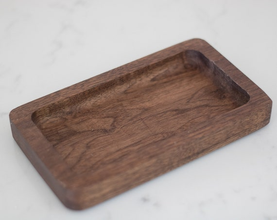 Handmade Wood Tray - Walnut