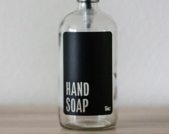 Clear Glass Modern Hand Soap Dispenser