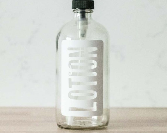 Clear Glass Lotion Dispenser
