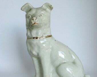 Vintage White Dog Ornament