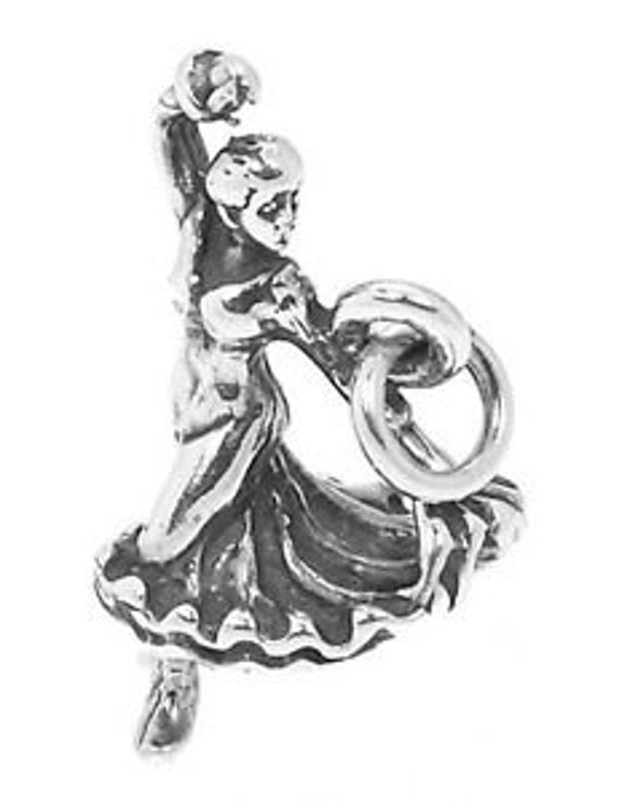 Sterling Silver 3-D Flamenco Dancer Charm