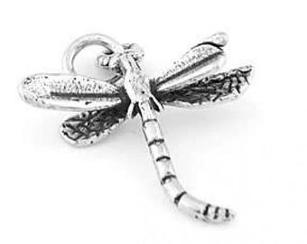 Sterling Silver Dragonfly Charm (3d Charm)