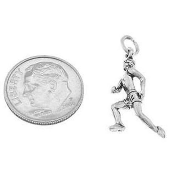 Runner 3D Sterling Silver Charms Female Jogger