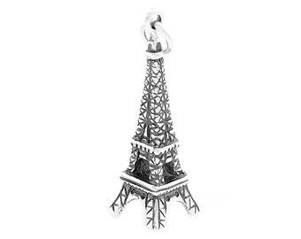 Sterling Silver Paris Eiffel Tower Charm (3d Charm)