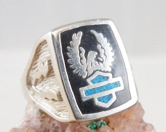 Harley Davidson Ladies Silver Ring