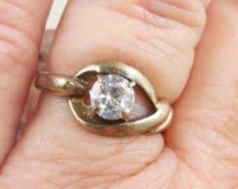 Sterling Silver Wedding Bridal CZ Ring