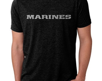 ef355d620 Men s Premium Blend Word Art T-shirt - Marine Text