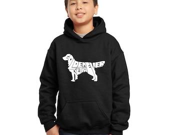 "e21540e9f3 Boy's Hooded Sweatshirt - Created using the words ""Golden Retriever"""