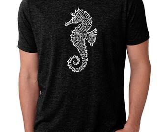 a3fdb1708 Men's Premium Blend Word Art T-shirt - Types of Seahorse