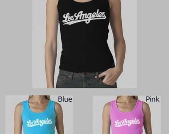 Women's Beater Tank Top - Created using the neighborhoods that make up the City of Los Angeles Neighborhoods