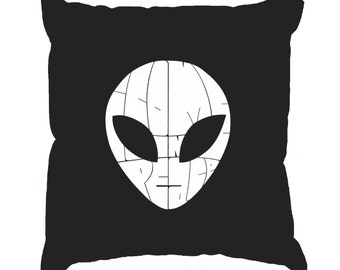 Throw Pillow Cover - Word Art - I COME IN Peace