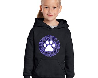 Girl's Hooded Sweatshirt - Gandhi's Quote on Animal Treatment