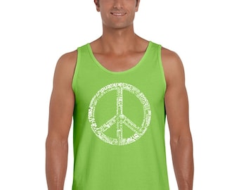 Men's Tank Top - The Word Peace In 77 Languages